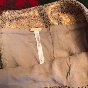 Free People Skirts - Free People Rose Gold Mini Skirt Size 6